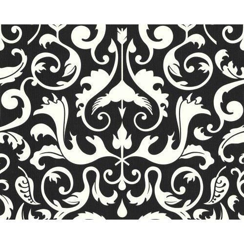 livingwalls 6693 77 papier peint motif baroque blanc noir design by lars contzen import. Black Bedroom Furniture Sets. Home Design Ideas