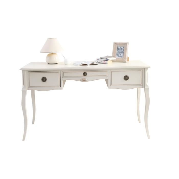 miliboo bureau baroque blanc bianca achat vente bureau bianca bureau cdiscount. Black Bedroom Furniture Sets. Home Design Ideas