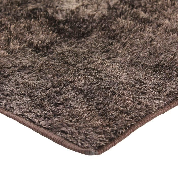 briliant tapis shaggy 160x230cm marron achat vente tapis cdiscount. Black Bedroom Furniture Sets. Home Design Ideas