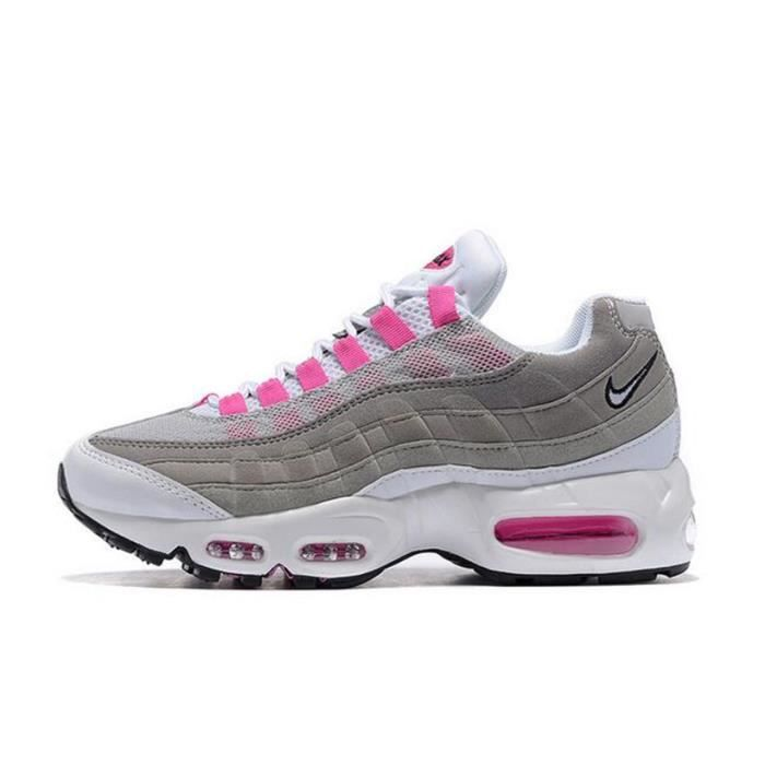 2aa6671976d Femme Nike Air Max 95 OG QS Baskets Chaussures De Sport Gris Rose ...