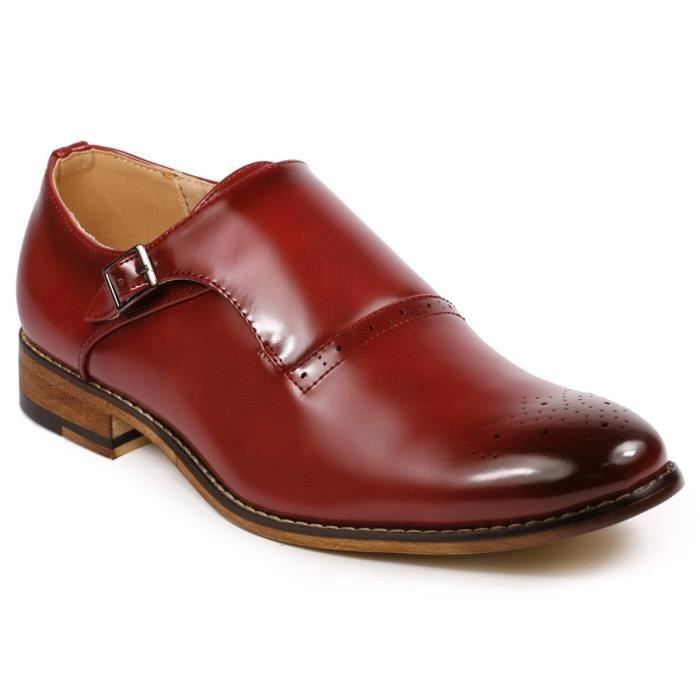 Mc112 Monk Strap Slip-on Loafers Dress Shoe YTWKM Taille-44