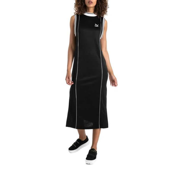 Dress Puma Retro Black Noir Achat Vente robe Cdiscount