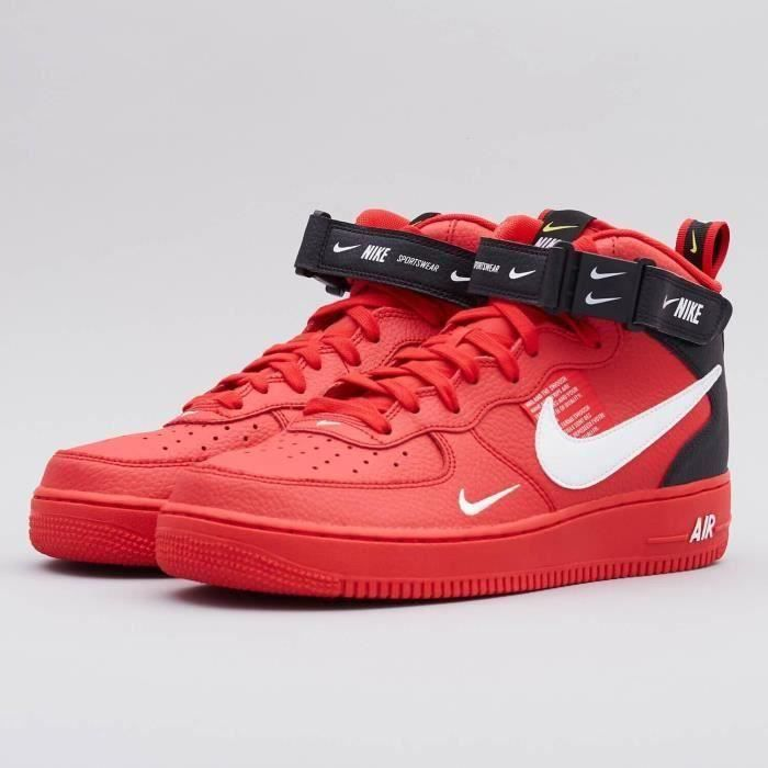 Air Force 1 Mid 07 LV8 Utility University Red Originals ...