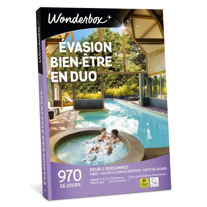 COFFRET SÉJOUR Wonderbox - Coffret cadeau en amoureux - Evasion b