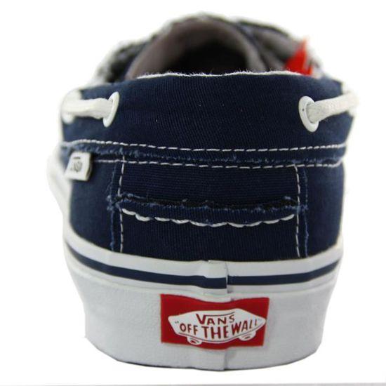 VANS chaussures bateaux homme ZAPATA DEL BARCO bleu blanc bleu ...