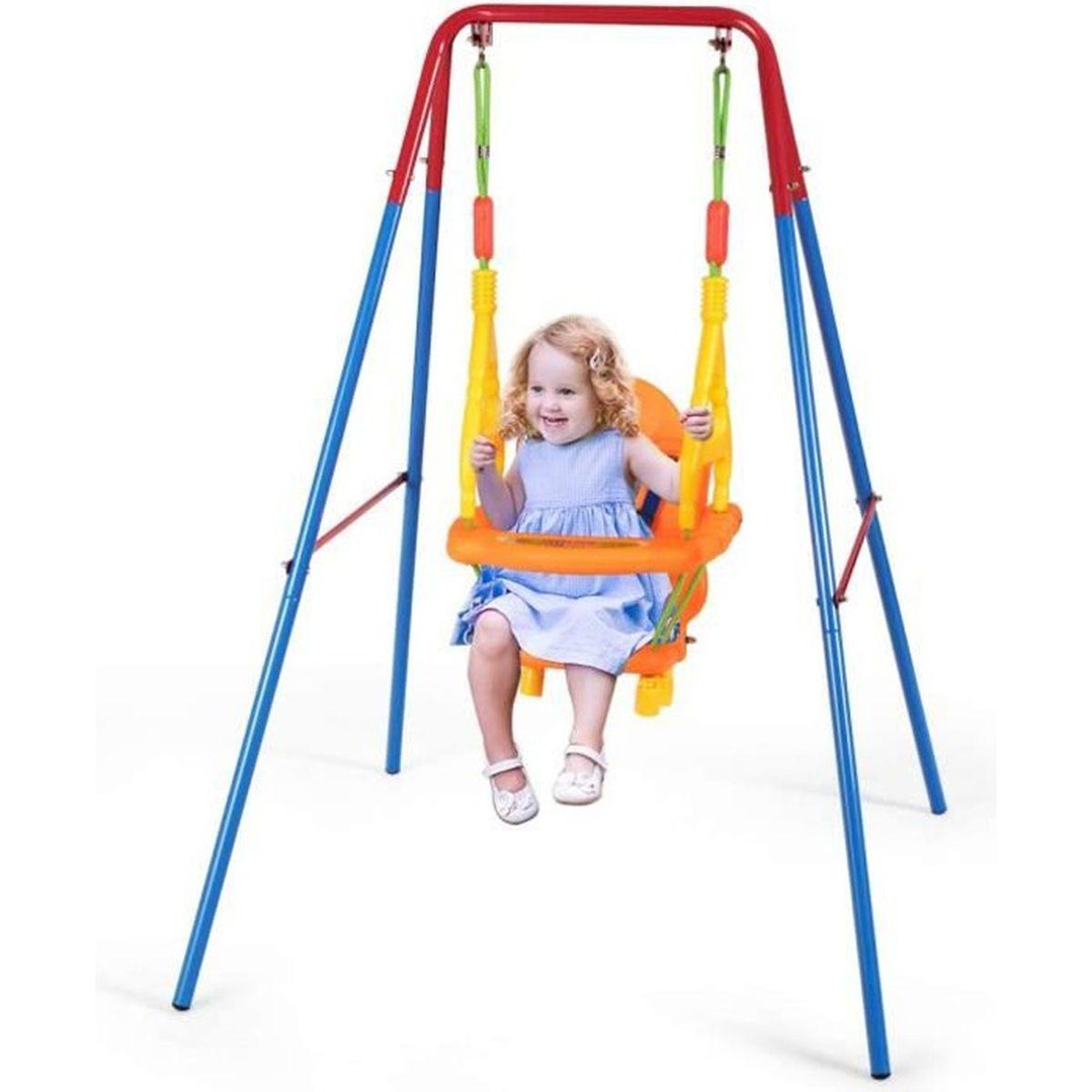Enfants Plastique Jeu Balançoire Siège Bord Extérieur Jardin Playground Park Kids Toy