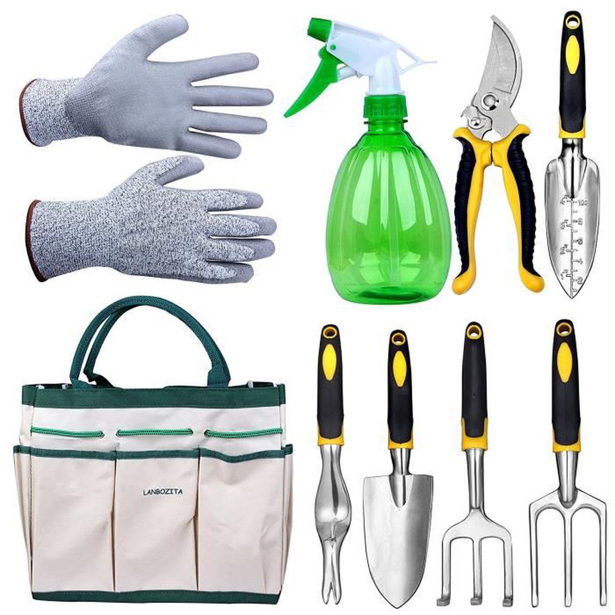 Les Outils De Jardinage Avec Photos kit outils de jardinage - sac de jardin avec 9 outils de
