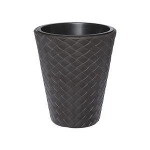 JARDINIÈRE - BAC A FLEUR Pot de fleurs marron effet tressé Ø30cm