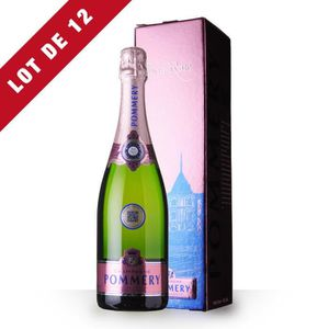 CHAMPAGNE 12X Pommery Brut Rosé 75cl - Etui - Champagne