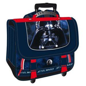 CARTABLE Cartable à roulettes Star Wars Black Vador 41 CM H