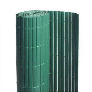 CLÔTURE - GRILLAGE Canisse en PVC vert - 90% d'occultation - longueur