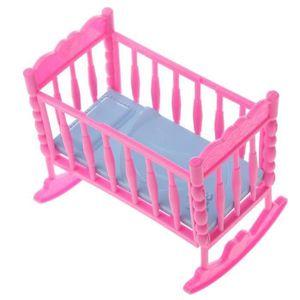 ACCESSOIRE POUPÉE VETEMENT  rose bébé lit à bascule mobilier de cham