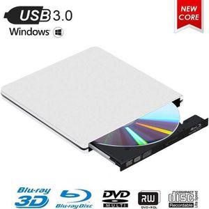 LECTEUR - GRAVEUR EXT. Lecteur Graveur Blu Ray Externe CD DVD 3D 4K USB 3