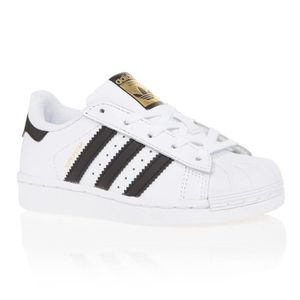 BASKET ADIDAS Baskets Superstar - Enfant - Blanc et noir
