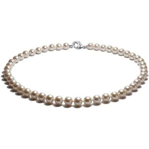 SAUTOIR ET COLLIER Collier Perles de culture de 40 cm Blanc et Argent