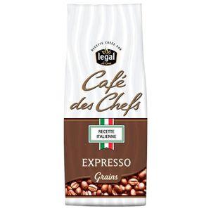 CAFÉ LEGAL Cafés des Chefs Expresso Recette Italienne G