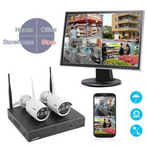 CAMÉRA DE SURVEILLANCE 2pcs Caméra de sécurité étanche HD sans fil avec l