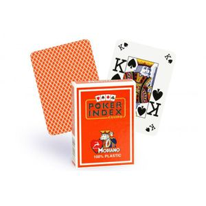 CARTES DE JEU Cartes Poker Index 100% plastique (orange)