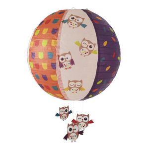 LUSTRE ET SUSPENSION DOMIVA Lanterne Papier Les Ziboux Multicolore