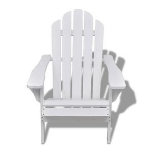 SALON DE JARDIN  Chaise de salon jardin en bois blanche chaise rela