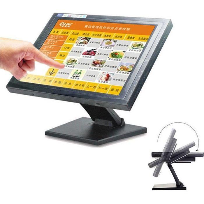 15 Écran Tactile Écran LED Moniteur Ordinateur Caisse d'enregistreuse POS