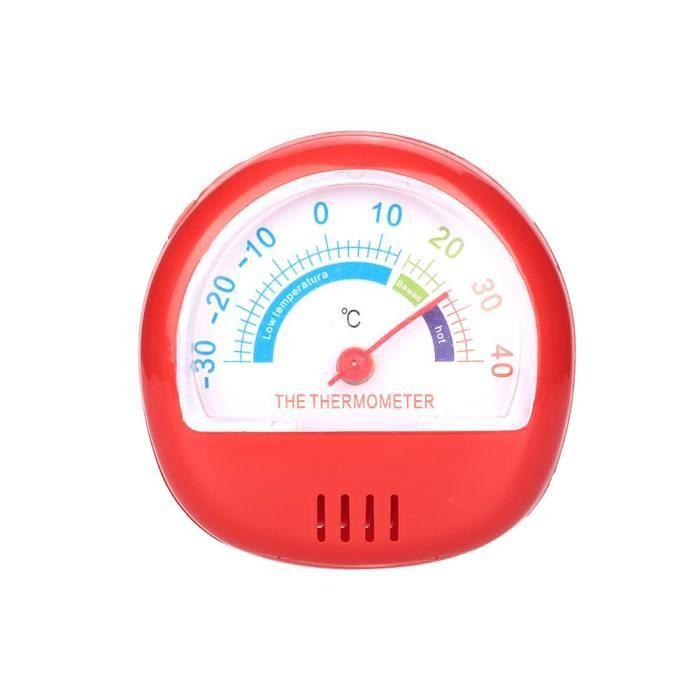 Thermomètre Réfrigérateur Congélateur Grand Cadran (Rouge Mécanique)