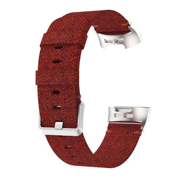 MONTRE OUTDOOR Bracelet de remplacement de bande de montre de tissu de toile tissée pour Fitbit Charge 4 bg1150 SDF1150