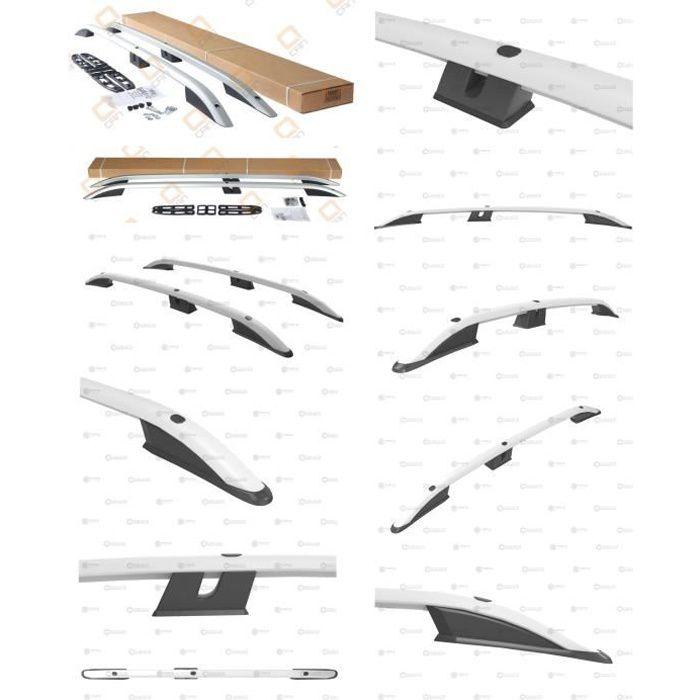 Barres de toit pour Citroen Berlingo III 09/2018>2021 Van long (LWB) longitudinales alu + pieds plastique