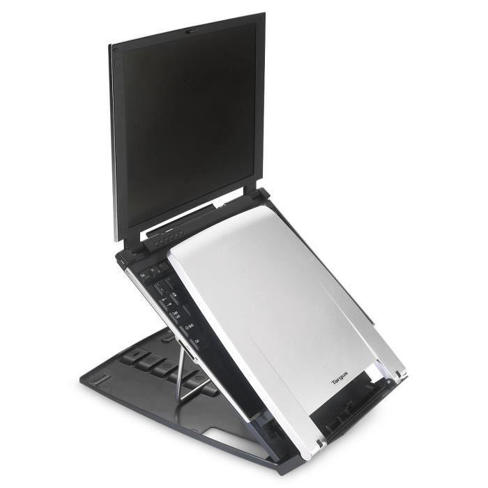Targus AWE04EU Ergo M-Pro Notebook Stand Support pour ordinateur portable 17- argenté(e), anthracite
