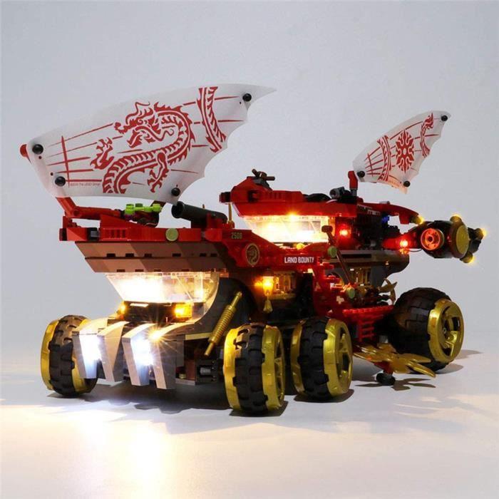 Kit de LED pour Lego NINJAGO Le Q.G des ninjas, Jeu De Lumières Compatible avec Lego 70677- Non Inclus Set de Construction