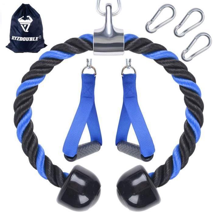Corde Triceps des Sports Musculation des Triceps Nylon Poignées Antidérapantes de Dorsal, Biceps, Triceps, Gym ou Maison 41
