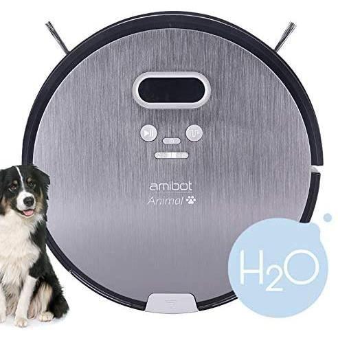 AMIBOT Animal Premium H2O - Robots Aspirateurs et laveurs spécial Poils d'animaux