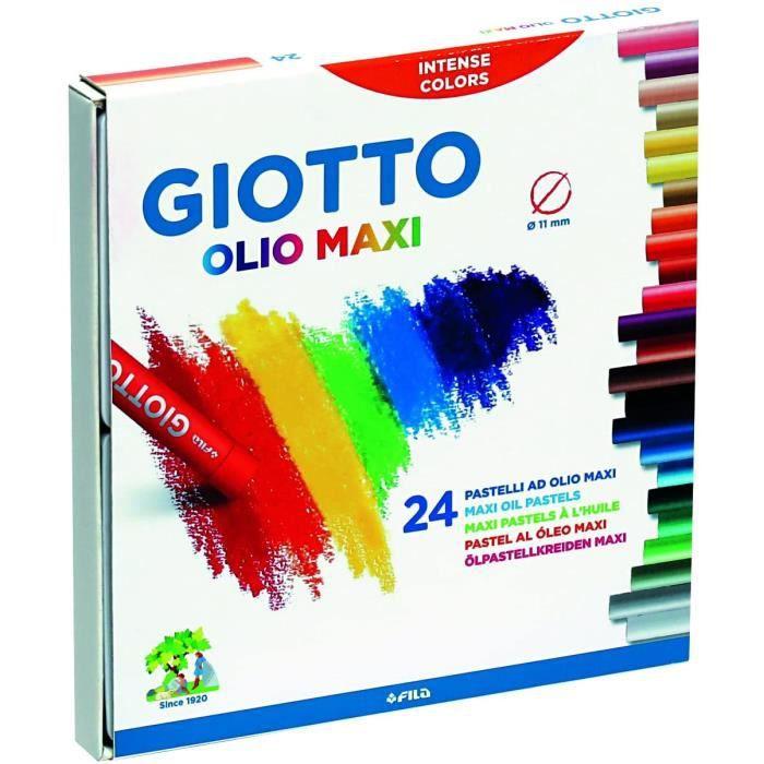 Marqueur de couleur Fila Giotto Pastels &agrave l'huile, Lot de 24297