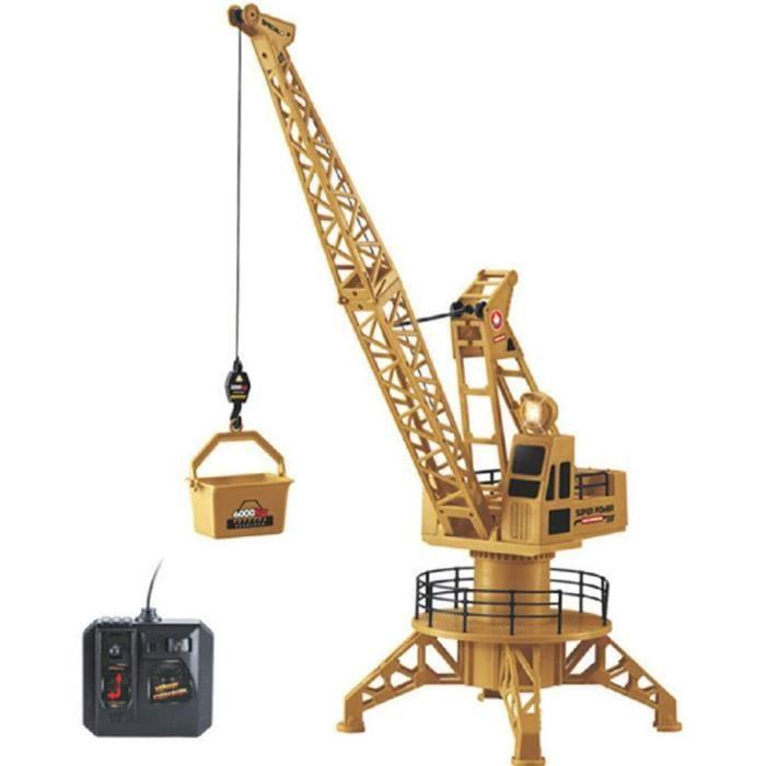 VEHICULE MINIATURE ASSEMBLE ENGIN TERRESTRE MINIATURE ASSEMBLE Grue à Tour de Construction RC Mod&egravele de Radiocom445