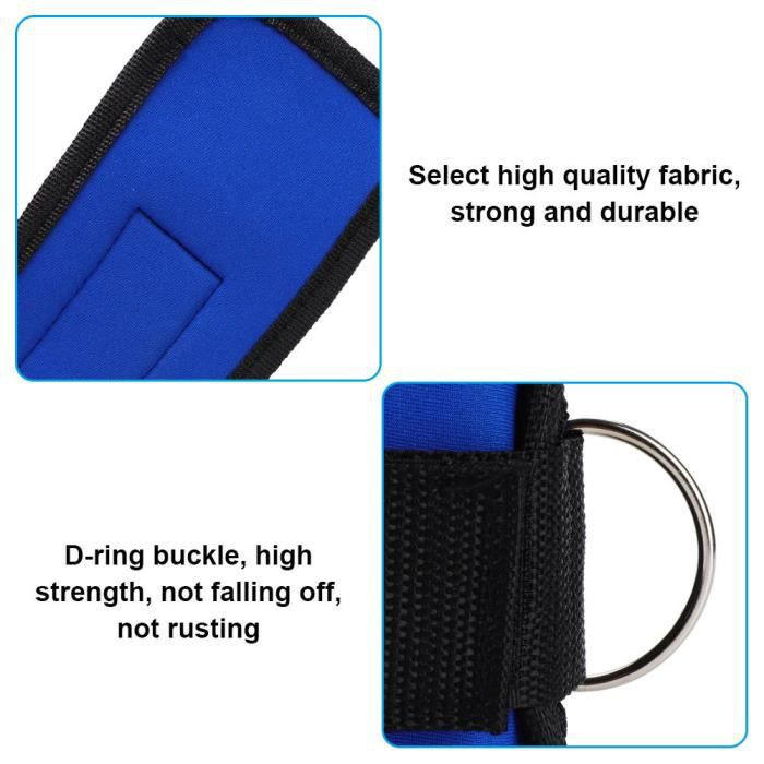 Drfeify sangle de force de jambe Sangles de cheville Jambe Musculation Anneau de pied Power Strap pour le fitness (bleu)