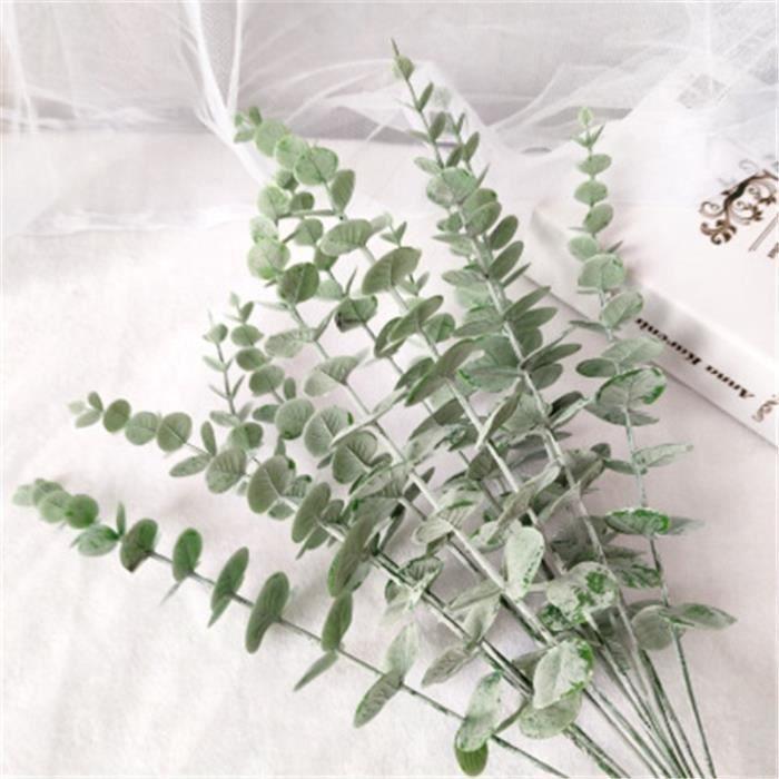 Décoration florale,Branches d'eucalyptus artificielles,tige d'eucalyptus unique,plantes - Type 1PC Gray Eucalyptus - 1PC