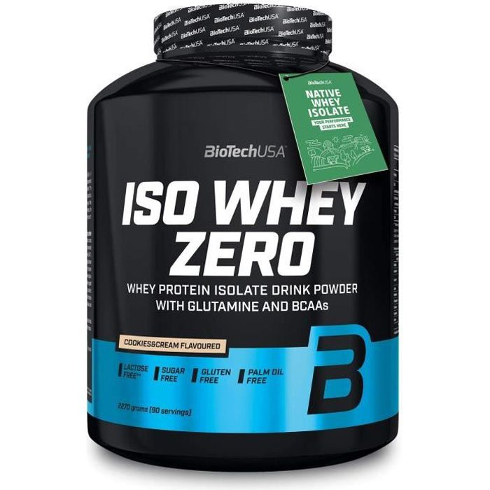 Iso Whey Zero 2.27kg COOKIES and CREAM Proteine ISOLATE 2270g Biotech USA