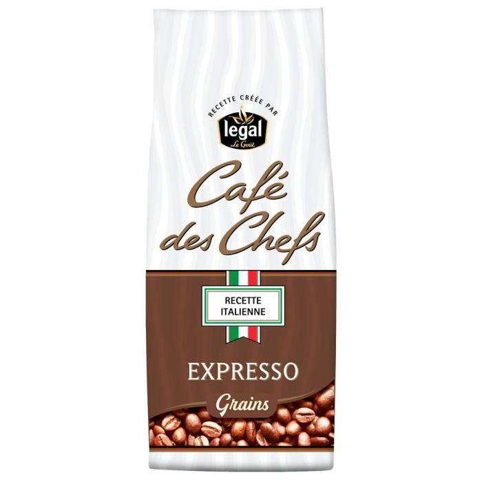 LEGAL Cafés des Chefs Expresso Recette Italienne Grains - 250 g
