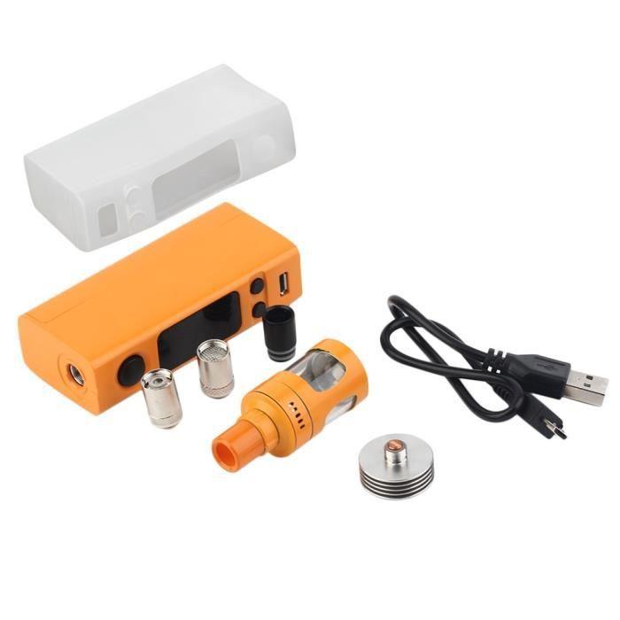 VTwo Mini 75W 4ml Capacity Tank Pro Starter Kit complet micrologiciel avec horloge, orange
