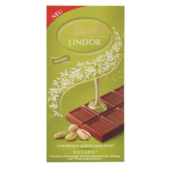 12x Lindt Lindor Chocolat Pistache 100g