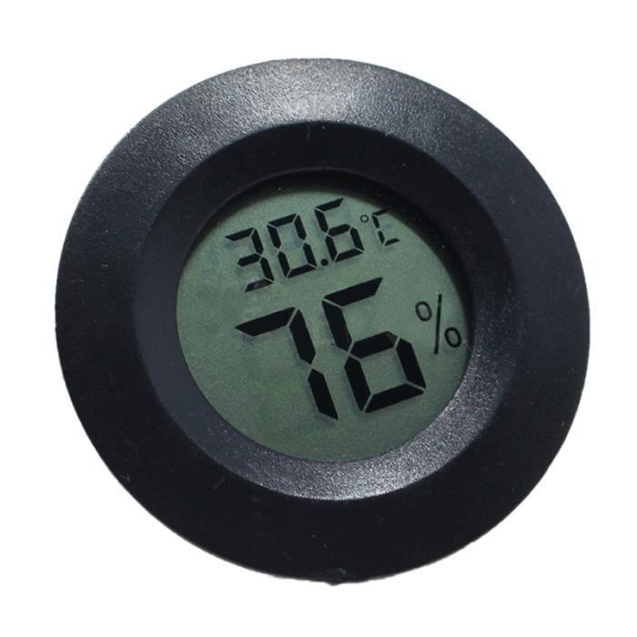 1 PC en forme ronde affichage numérique mesure de température humidité mètre thermomètre hygromètre pour intérieur chambre à