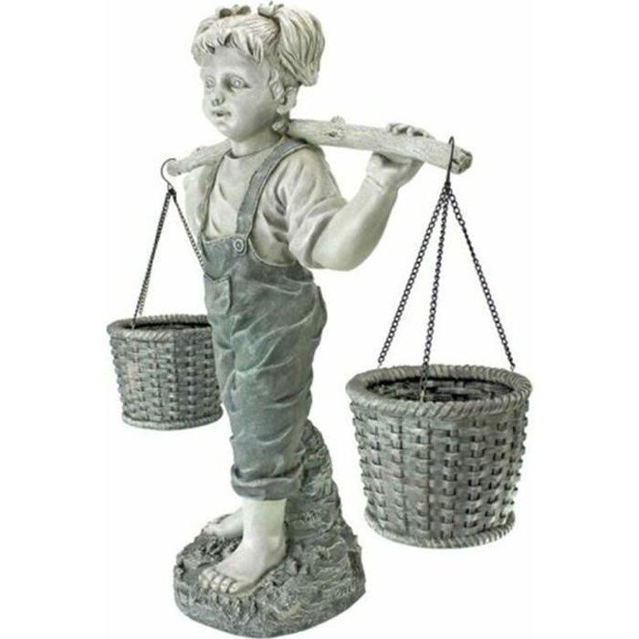 Statue de Jardin Petite fille Décoration pour maison jardin cour pelouse - 16 * 14,5 * 5,5 cm