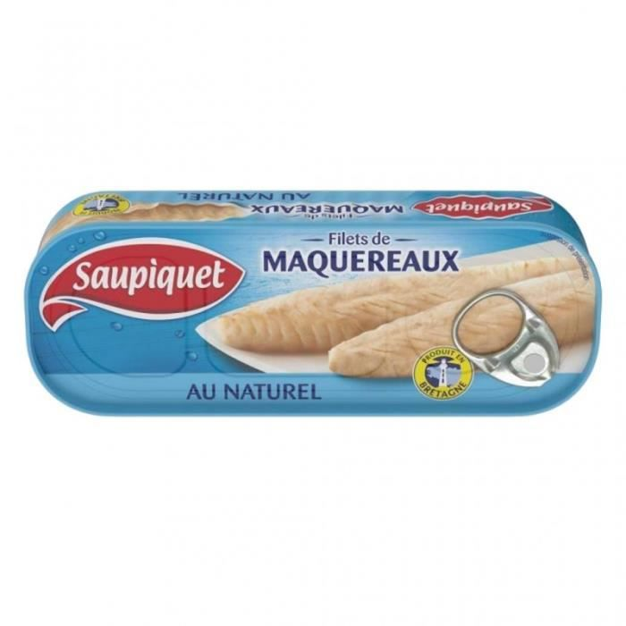 Saupiquet Filets de Maquereaux au Naturel 169g (lot de 5)