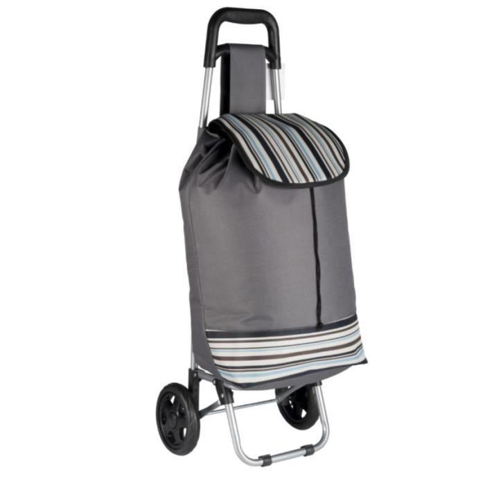 TOM chariot dame 94 cm textile / acier inoxydable gris