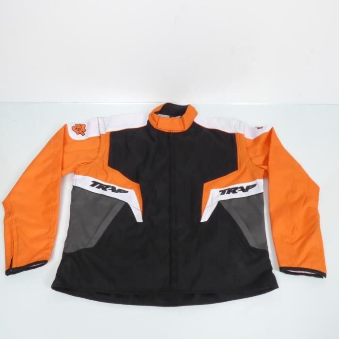 Veste de moto d'enduro orange Taille XXXL Jacket TRAP Enduro Man 3XL cross TT