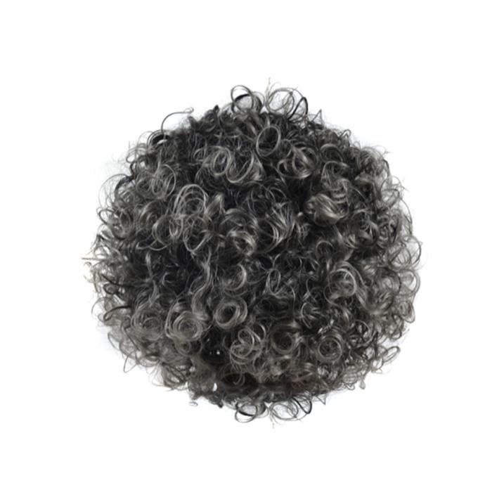 Nouveau Chic Afro Kinky Bouclés Femmes Perruques Cheveux Naturels Noir Gris Gris Mixte Perruque Synthétique Postiche