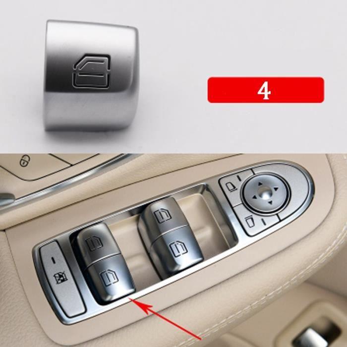 4 -Bouton de lève vitre intérieur de voiture,interrupteur pour Mercedes Benz classe C W205 C180 C200 C260 C300 C63 W204