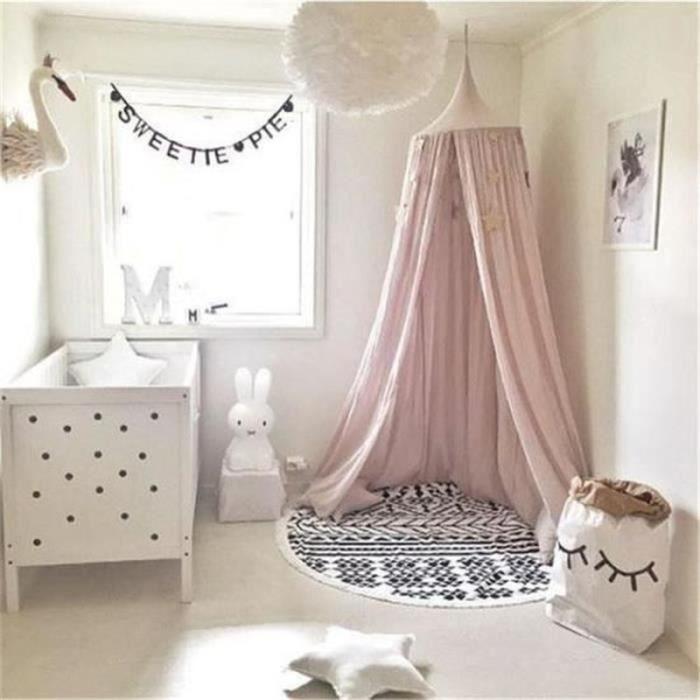 ZF30813-Mosstiquaire ciel de lit, De Bébé et Les Adulte Filles Princesse Jouer Tente Enfant Chambre Décoration Hauteur 220cm