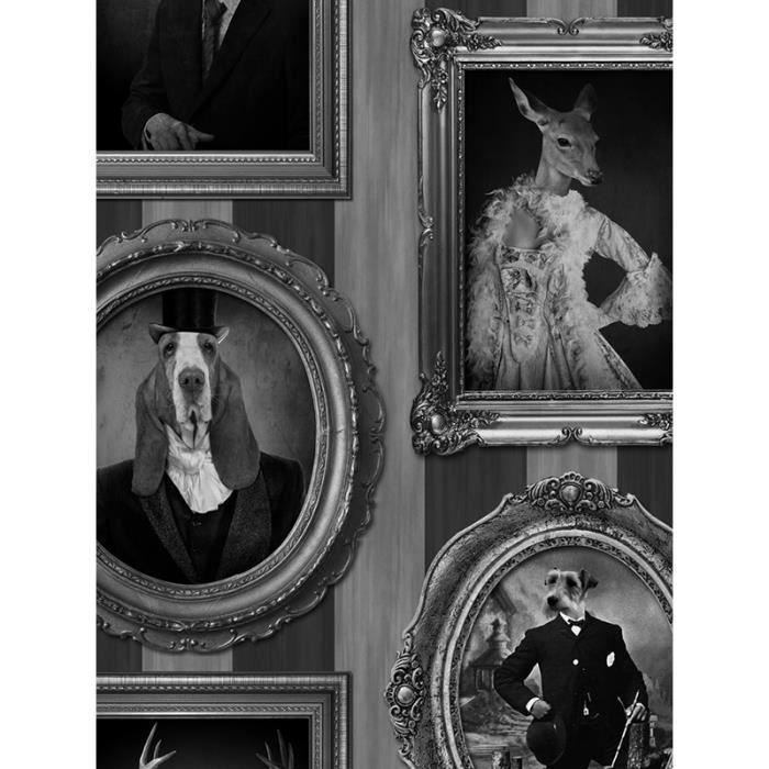 Les Chiens Dans Frames Papier Peint Muriva J59309