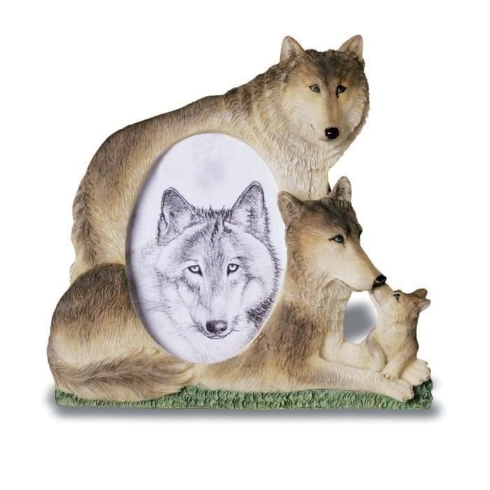 cadre photo figurine loup famille loups achat vente cadre photo cdiscount. Black Bedroom Furniture Sets. Home Design Ideas